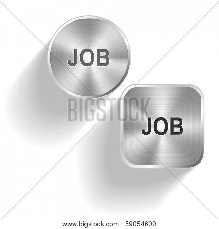 Job. Raster set steel buttons