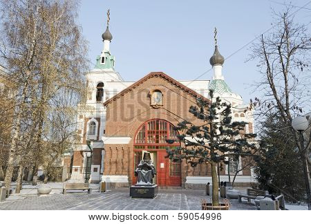Krasnoyarsk,RU-Nov.09,2012: Church of St John the Forerunner in Nov.09,2012 in Krasnoyarsk, Russia