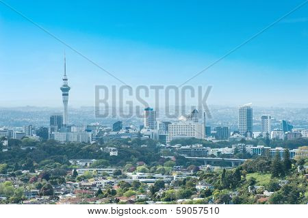 Skyline photo of the biggest city in the New Zealand, Auckland.