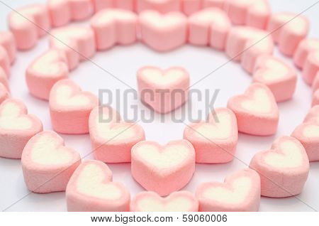 Pink Heart Marshmallow