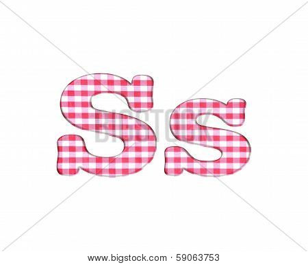 Abc Fabric Gingham, Letter S.