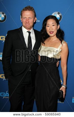 LOS ANGELES - JAN 25:  Kevin McKidd, Sandra Oh at the 66th Annual Directors Guild of America Awards at Century Plaza Hotel on January 25, 2014 in Century City, CA