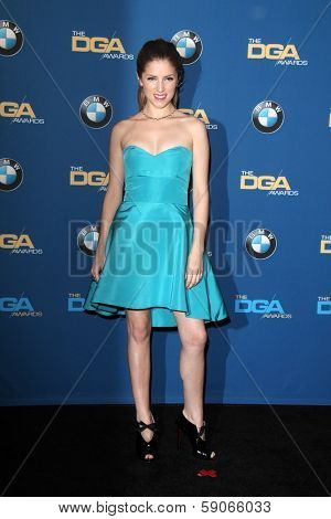 LOS ANGELES - JAN 25:  Anna Kendrick at the 66th Annual Directors Guild of America Awards - Press Room at Century Plaza Hotel on January 25, 2014 in Century City, CA