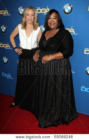 LOS ANGELES - JAN 25:  Betsy Beers, Shonda Rhimes at the 66th Annual Directors Guild of America Awards at Century Plaza Hotel on January 25, 2014 in Century City, CA