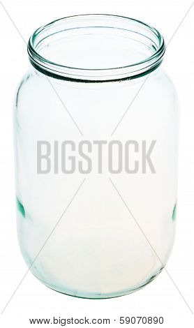 Open Gallon Glass Jar Isolated