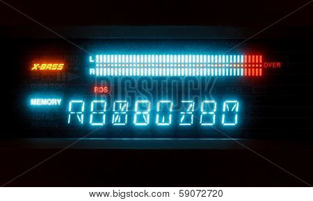 Scale Of Sound Volume On Illuminated Indicator