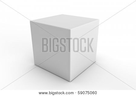 white square packaging on a white background