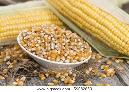 Bowl With Dried Sweetcorn
