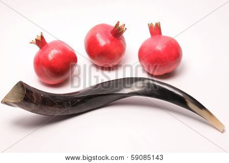 Shofar And Pomegranates