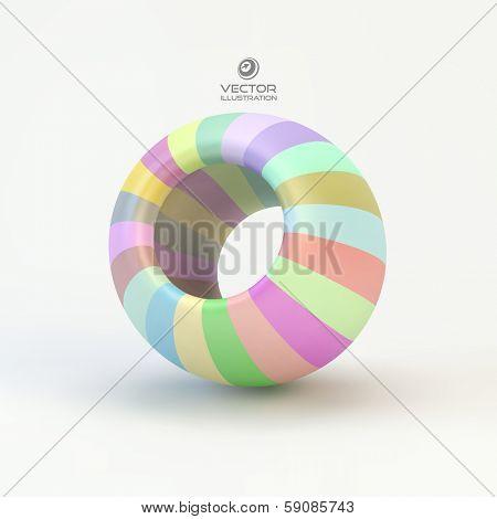 Torus. Vector 3D illustration.