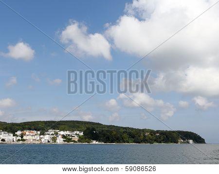 Panorama Of Sassnitz And Cliff Coast On Island Of Ruegen