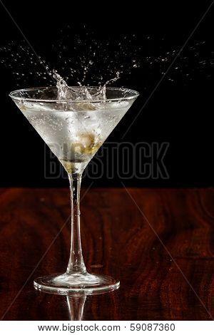 Splashing Martini Olives