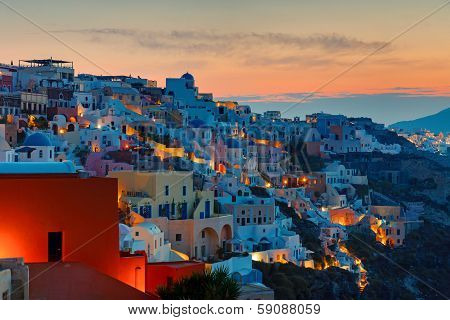Sunrise over Oia, Santorini