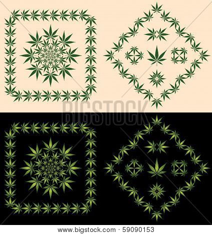 Pot Leaf Borders and Icons