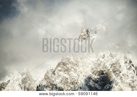 Mountain in the snow