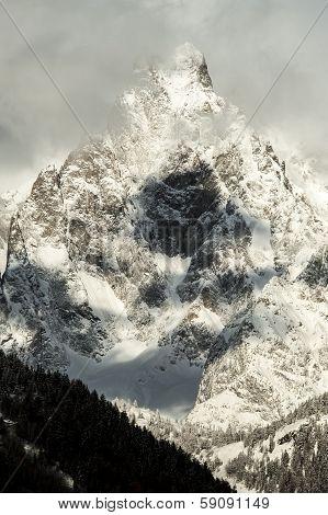 Mountain in the cloud