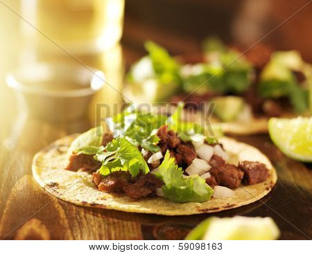 authentic mexican tacos with beef