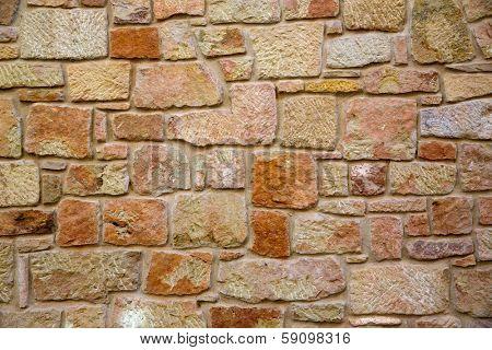 Masonry walls in Maestrazgo of Teruel aragon spain