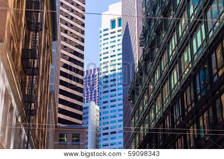San Francisco Downtown buildings at California USA