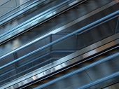 picture of escalator  - a motion blur shot of an escalator in an airport