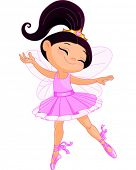 foto of ballerina  - Illustration of a happy little fairy ballerina - JPG