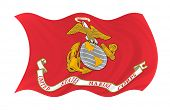 stock photo of united states marine corps  - Illustration of United States Marine Corps  flag waving in the wind  - JPG