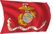 image of united states marine corps  - Illustration of United States Marine Corps  flag waving in the wind - JPG