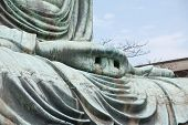 Hand Close-up Of The Daibutsu In Kamakura - Japan