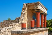 stock photo of minotaur  - Knossos Palace ruins - JPG