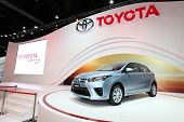Nonthaburi - November 28: Toyota Yaris Car On Display At The 30Th Thailand International Motor Expo