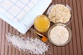 pic of sea oats  - Homemade facial mask with oats and honey - JPG
