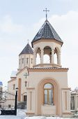 Krasnoyarsk,RU-Nov.10,2012:The Bell Tower of Armenian Apostolic Church in Nov,9 2012 in Krasnoyarsk