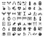 foto of health center  - Health and Fitness icons on white background - JPG
