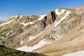 stock photo of beartooth  - View of Beartooth Pass from the Beartooth Highway - JPG