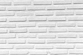 stock photo of arriere-plan  - white brick wall background cement block stucco - JPG