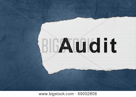 Audit With White Paper Tears