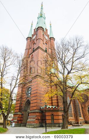 The Church of Saint Clare tower, Stockholm, Sweden.
