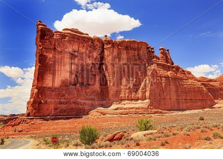 Tower Of Babel Rock Formation Canyon Arches National Park Moab Utah