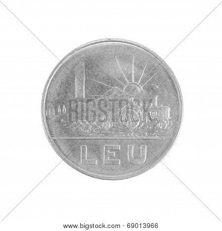 One Romanian Lei coin.