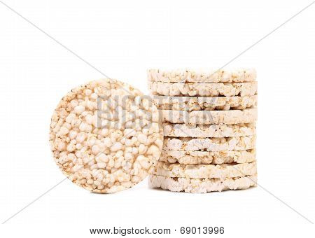 Stack of rice cakes.