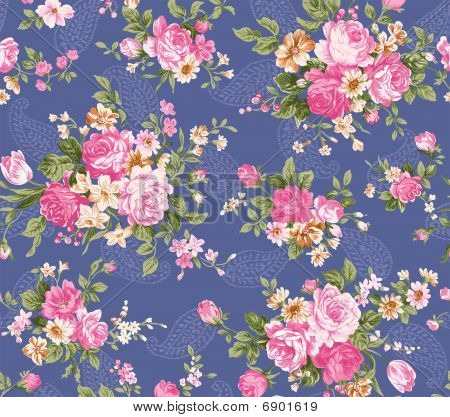 Retro Flower Seamless Pattern