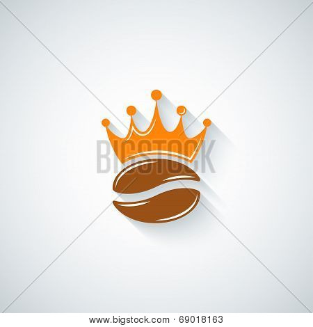 coffee bean crown menu background