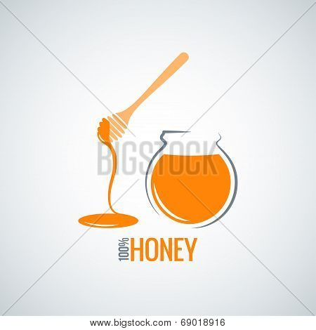 honey jar pot glass background