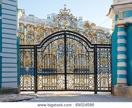 Golden Gates Of Catherine Palace