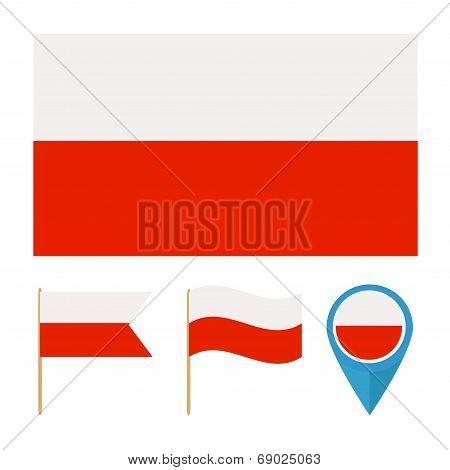 Poland, Country Flag Vector