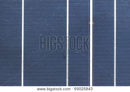 Solar Cell Panel Close Up