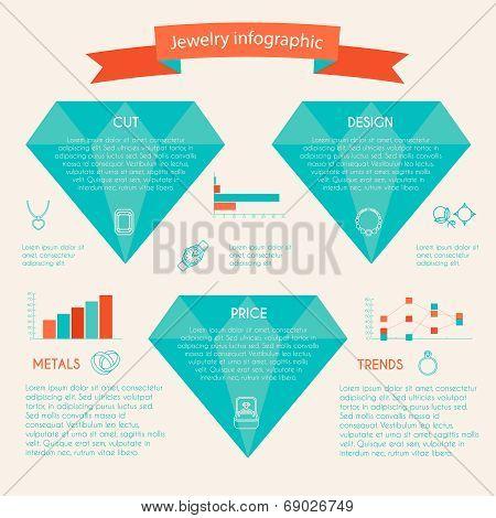Jewelry icon infographic