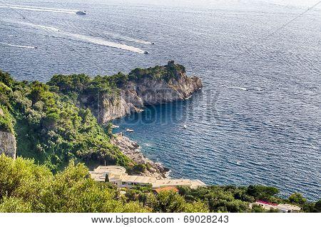 Coastline At Sorrento Peninsula, Italy