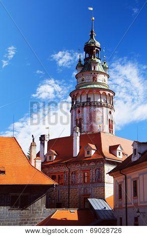 Tower in the Bohemian Crumlaw, Czech republic