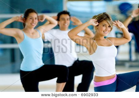 Aerobics Class In A Gym